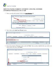 How to unlink an attorney/paralegal from a case and link ... - Cerenade