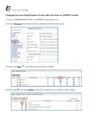 How to change process steps and features for the entire ... - Cerenade