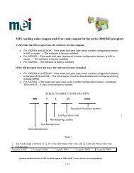 MEI series 2000 combo acceptor