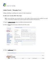 Admin Console – Managing Users - Cerenade
