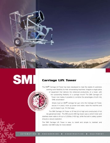 Download Carriage Lift Tower Literature - Snow Machines, Inc.