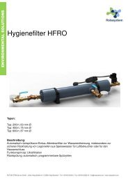 Rotasystem Hygienefilter HFRO
