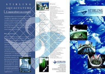 STIRLING AQUACULTURE L'aquaculture au complet - Institute of ...