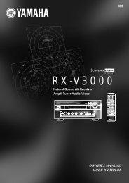 RX-V3000 - Yamaha