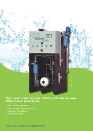 Rotasystem DruckTech print & air Umkehrosmoseanlagen