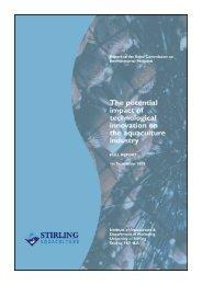 Report Example (pdf) - Institute of Aquaculture - University of Stirling