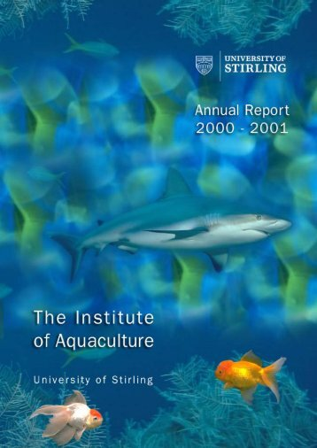 aqua annual report 2000-2001 - Institute of Aquaculture - University ...