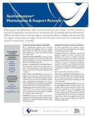 SA Maint Support Fact Sheet.pdf - New River Kinematics