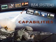 Analytical Solutions for the Warfighter - BFA Systems, Inc.
