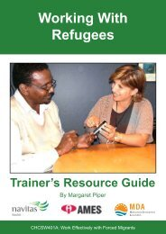 Working with Refugees - Trainer's Resource Guide - Navitas English