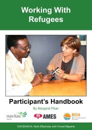 Working with Refugees - Participant's Handbook - Navitas English