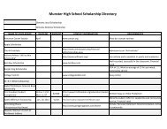 Munster High School Scholarship Directory - the School Town of ...