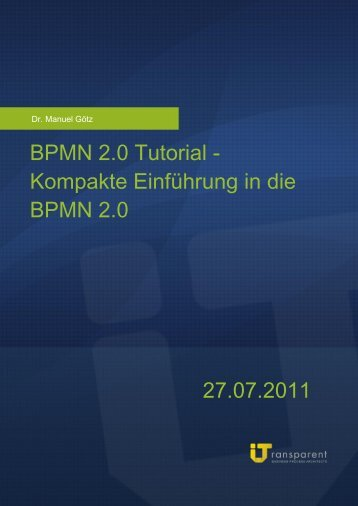 Bpmn 2 0 tutorial business process modeling notation deutsch