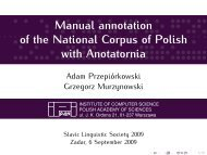 Manual annotation of the National Corpus of Polish with Anotatornia