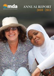 annual report 2010 –2011 - Multicultural Development Association