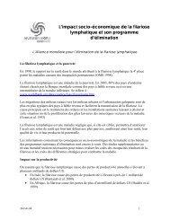 L'impact socio-économique de la filariose lymphatique et son ...
