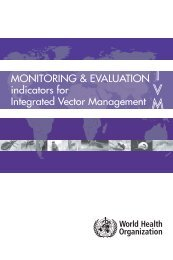 Monitoring and evaluation indicators for integrated vector ...