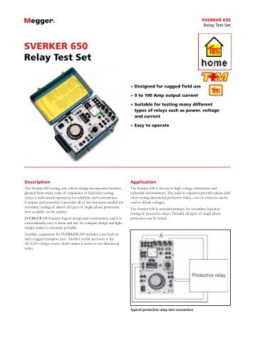 SVERKER 650 Relay Test Set - Test and Measurement Instruments ...