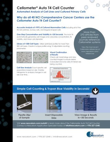 T4 Product Flyer - Nexcelom