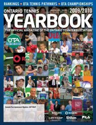 rankings ota tennis pathways ota championships 2009/2010