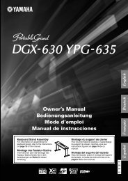 DGX-630 YPG-635 Owner's Manual - Yamaha