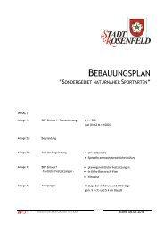 Bebauungsplan - Rosenfeld