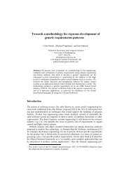 Towards a methodology for rigorous development of generic ...