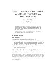 security measures in the personal data protection rules - CRISES ...