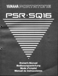PSR-SQ16 FEATURES - Yamaha