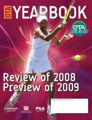 YEAR ENd 2008 - Ontario Tennis Association