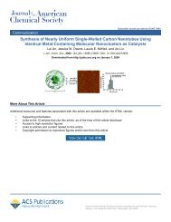 Synthesis of Nearly Uniform Single-Walled Carbon Nanotubes ...