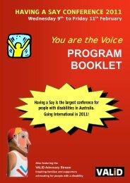 PROGRAM BOOKLET - valid