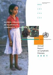global programme to eliminate lymphatic filariasis - libdoc.who.int