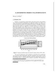 12. determining product platform extent - MIT Strategic Engineering