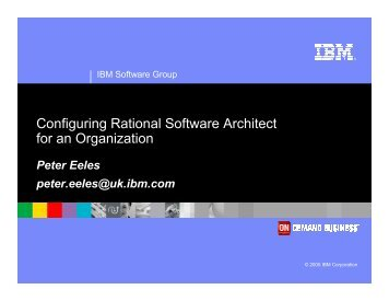 Configuring Rational Software Architect for an ... - Architecting.co.uk