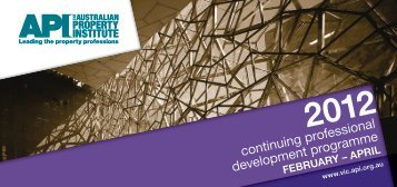 continuing professional development programme - API Victoria - The ...