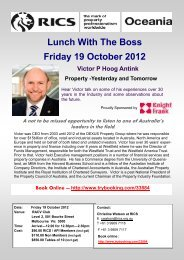 RICS Lunch with the Boss - The Australian Property Institute