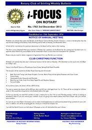 Bulletin 1763.pub - Rotary Club of Stirling