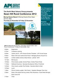 Swan Hill Rural Conference 2012