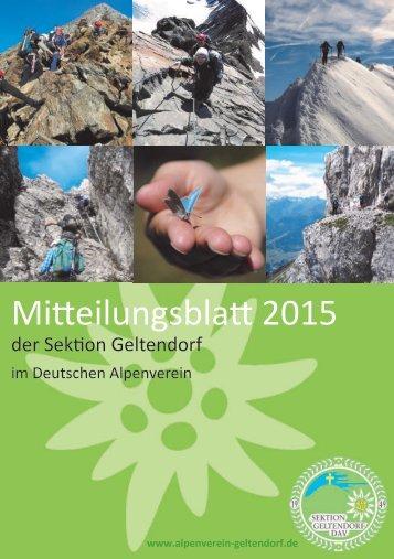 Mitteilungsblatt 2015