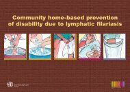 Community home-based prevention of disability due to lymphatic ...