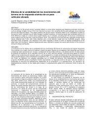 Efectos de la variabilidad de los movimientos del terreno en la ...