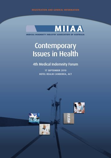 Contemporary Issues in Health - Medical Indemnity Industry ...