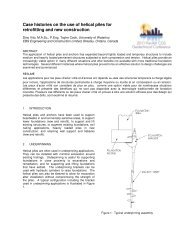 Case histories on the use of helical piles for retrofitting and new ...
