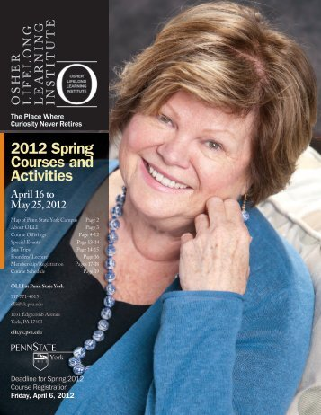 2012 Spring Courses and Activities - Osher Lifelong Learning Institute