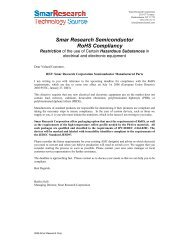 Smar Semiconductors RoHS compliancy - smarresearch