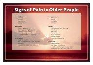 Pain management poster