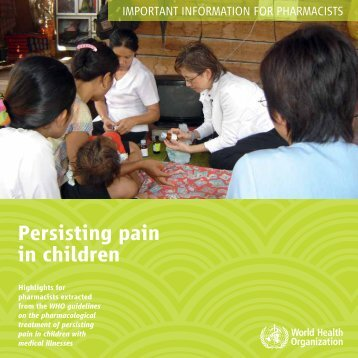 Persisting Pain in Children: Important Information for Pharmacists