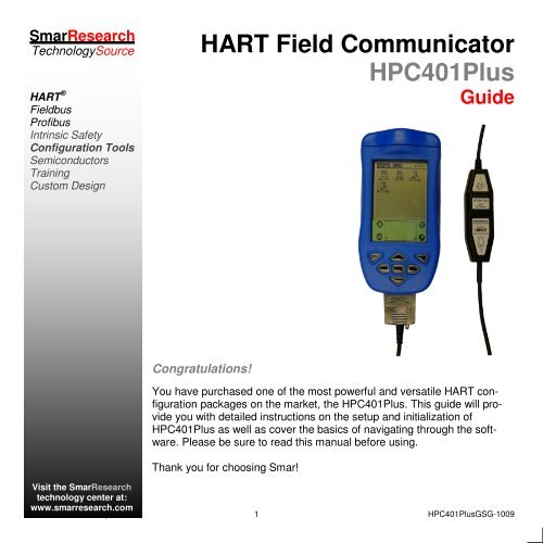 HART Field Communicator HPC401Plus - smarresearch