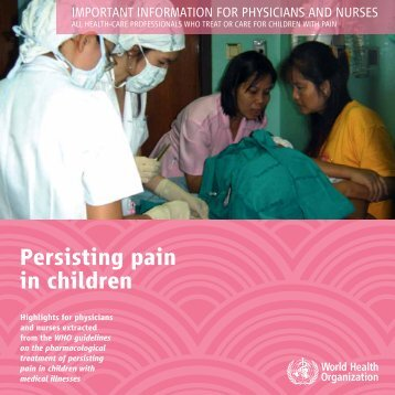 Persisting pain in children - libdoc.who.int - World Health Organization